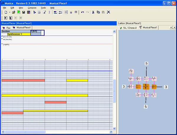 Tonescape Studio 2005 Notation Composer, Just Intonation Musical Scale
